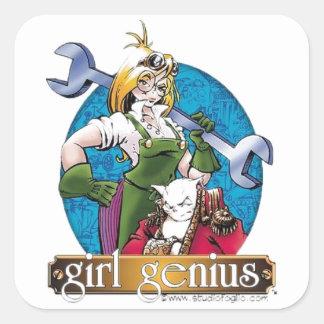 Agatha Hetrodyne - Girl Genius Square Stickers