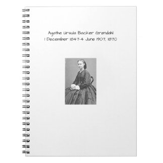 Agathe Ursula Backer Grondahl, 1870 Notebook