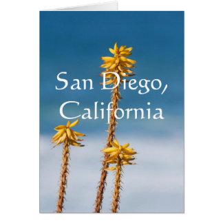 Agave and Ocean San Diego, California Card