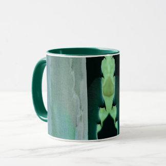 Agave design 3 - green ringer mug