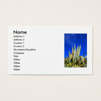 Agave Plant Business Card
