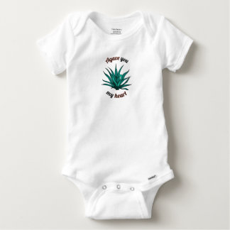 agave you my heart baby onesie