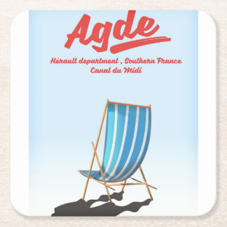 Agde, Hérault department in southern France travel Square Paper Coaster