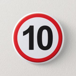 Age 10 2 inch round button