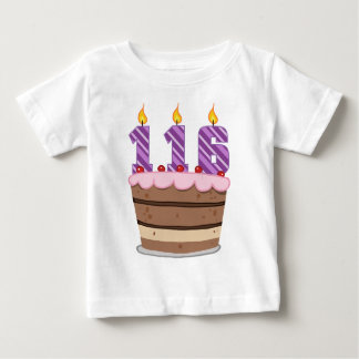 Age 116 on Birthday Cake Baby T-Shirt