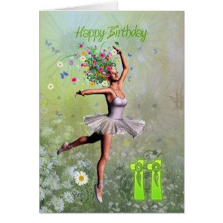 Age 11, flower fairy birthday card