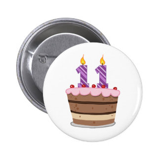 Age 11 on Birthday Cake Pins