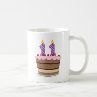 Age 11 on Birthday Cake Coffee Mug