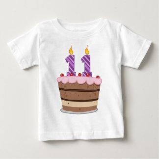Age 11 on Birthday Cake Tees