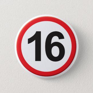 Age 16 2 inch round button