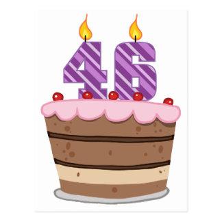 Age 46 on Birthday Cake Postcard
