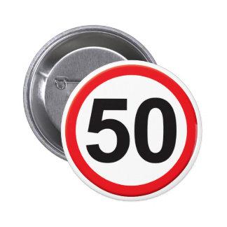 Age 50 2 inch round button
