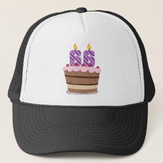 Age 66 on Birthday Cake Trucker Hat