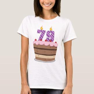 Age 79 on Birthday Cake T-Shirt