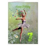 Age 7, flower fairy birthday card