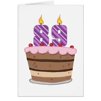 Age 89 on Birthday Cake Card