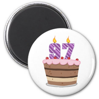 Age 97 on Birthday Cake Magnet