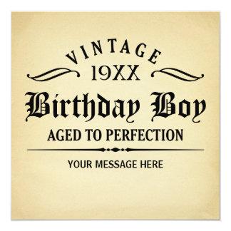 Âgé à l'anniversaire drôle de perfection carton d'invitation  13,33 cm