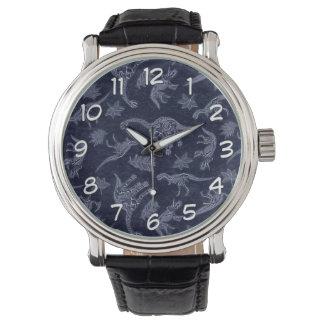 Âge de montre-bracelet squelettique de motif de montres
