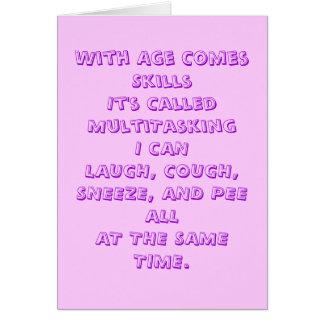 Age Humor Card