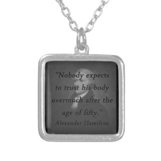 Age of Fifty - Alexander Hamilton Silver Plated Necklace