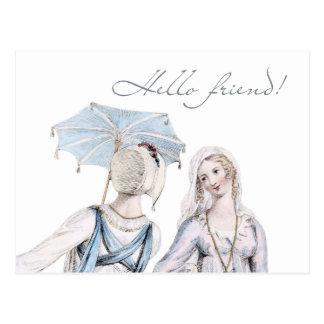 Age of Jane Austen Regency Hello Friend Postcard