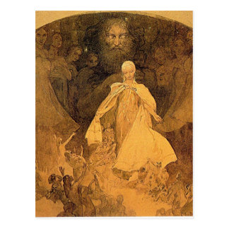 Age of Wisdom by Alphonse Mucha Postcard