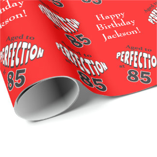 Age to Perfection at 85 | 85th Birthday Wrapping Paper