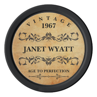 Age to Perfection Vintage - Any Birthday Poker Chips