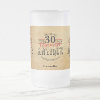 Aged 30 Years | 30th Birthday Frosted Glass Beer Mug