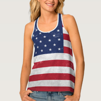 Aged American Flag Tank Top