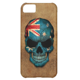 Aged and Worn Australian Flag Skull iPhone 5C Cover