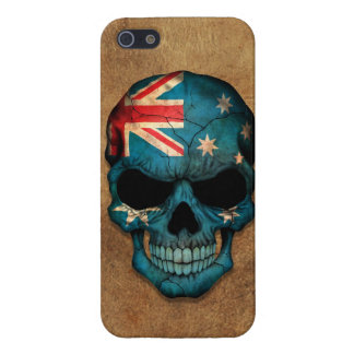 Aged and Worn Australian Flag Skull Covers For iPhone 5