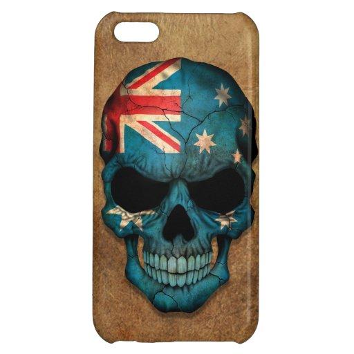 Aged and Worn Australian Flag Skull iPhone 5C Cases