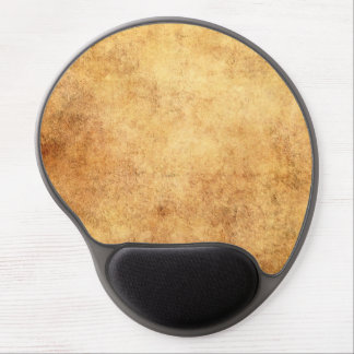 Aged and Worn Brown Vintage Texture Gel Mousepads
