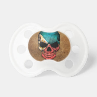 Aged and Worn Filipino Flag Skull Baby Pacifiers