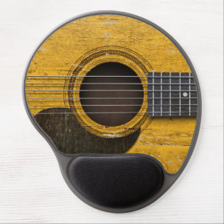 Aged and Worn Old Acoustic Guitar with Pickguard Gel Mousepads