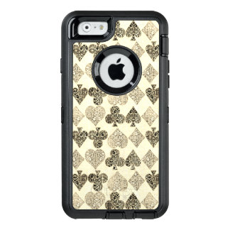 Aged Antiqued Beige Damask Card Suit Heart Diamond OtterBox iPhone 6/6s Case