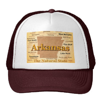 Aged Arkansas State Pride Map Hat