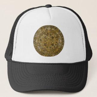 Aged Aztec Sun Stone Calendar Trucker Hat