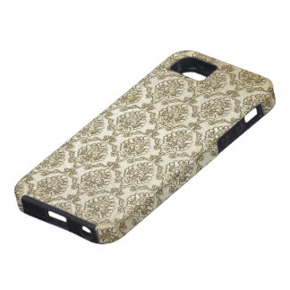 Aged Brocade Damask Print iPhone 5 Cover
