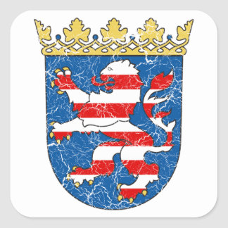 Aged Coat of arms of Hesse Square Sticker