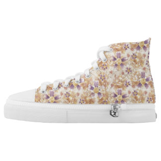 Aged Flower Clowns Pattern High Tops