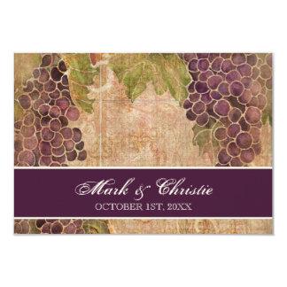 "Aged Grape Vineyard Wedding RSVP Response Card 3.5"" X 5"" Invitation Card"