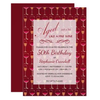 Aged Like Fine Wine Birthday Party Invitation