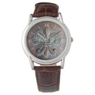 Aged Look Fleur De Lis Wristwatch