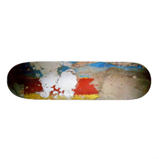 Aged Painted Concrete Wall Skateboard Deck