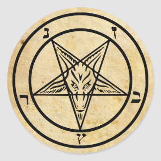Aged Paper Baphomet Stickers