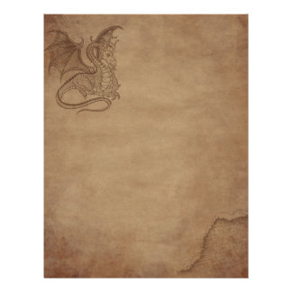 Aged paper - Dragon