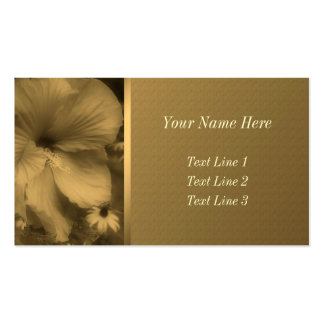 Aged Sepia Hibiscus Flower Business Card